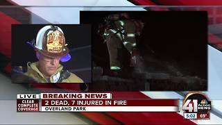 Two children dead, 7 others hurt in Overland Park apartment complex fire - Video