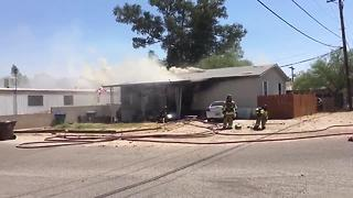 RAW VIDEO: Fire at Rillito and Camino Aire Fresco - Video