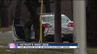 Car stolen with baby inside