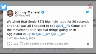 Johnny Manziel Caught Breaking NCAA Recruiting Rule - Video