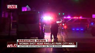 Woman shot near Pinellas Park City Hall - Video
