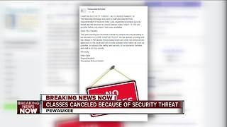 Pewaukee School District cancels classes Wednesday due to security threat - Video