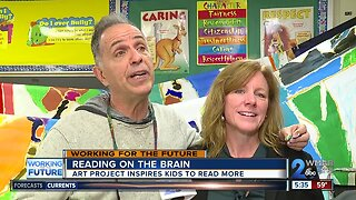Mural painting project inspires a passion for reading in students