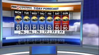 Partly Cloudy and a Few Storms for Labor Day - Video