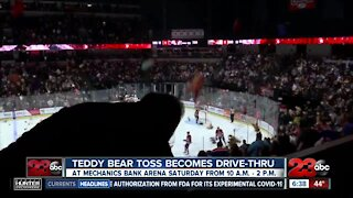 Bakersfield Condors Teddy Bear Toss will be a drive-thru outside Mechanics Bank Arena this year