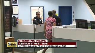 Parents of girl found wandering show up at Detroit police precinct