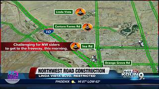 Construction causing congestion in Marana - Video