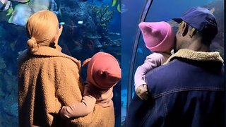 Kylie Jenner & Travis Scott Take Baby Stormi To The Aquarium In Extremely CUTE Outing! - Video