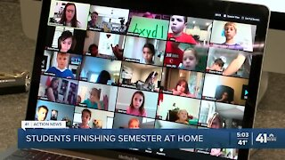 Students finish semester at home