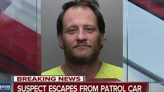 Arrestee escapes from patrol vehicle - Video