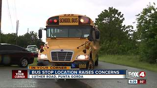 Parents concerned about bus stop safety in Charlotte County - Video