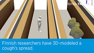 Finnish researchers have 3D-modeled a cough's spread.