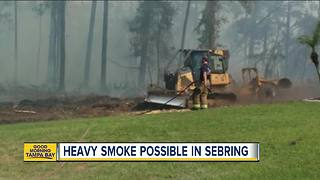 Homes evacuated due to brush fire in Sebring - Video