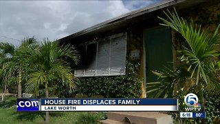 House fire displaces family in Lake Worth