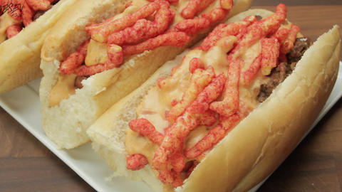 Hot Cheetos Nacho Dog