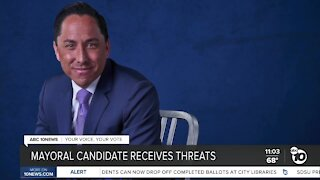 Mayoral candidate receives threats