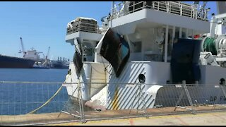 High-tech vessel leaves Durban for African coastal research (84L)