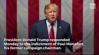 Trump Responds to Manafort Indictment - Video