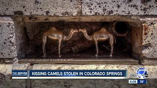 Kissing Camels statute stolen from downtown Colorado Springs - Video