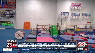 Local gym holds free obstacle course on National Gymnastics Day - Video