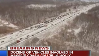 Massive crash shuts down I-75 - Video