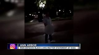 "Video of man urinating on ""Black Lives Matter"" at U of Michigan goes viral"