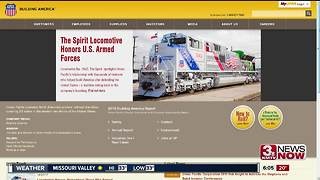 Union Pacific unveils Spirit Locomotive - Video