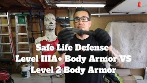 Safe Life Defense Level IIIA+ Body Armor VS Level 2 Body Armor, Use Discount Code AK10 for 10% OFF