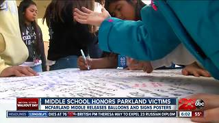 McFarland Middle School holding an alternative to national school walkouts following school shooting - Video