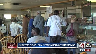 Shoppers hit local stores on day before Thanksgiving