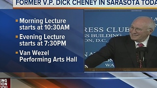 Former Vice President Dick Cheney in Sarasota on Monday - Video