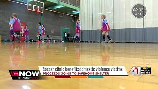 Metro soccer clinic benefits Johnson County domestic violence shelter - Video