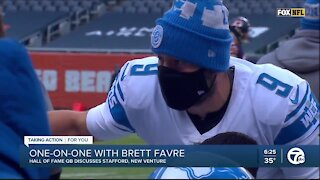 Brett Favre wants to see Matthew Stafford find playoff success -- with the Lions