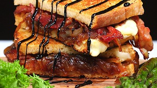 Bacon and Brie Grilled Cheese - Video