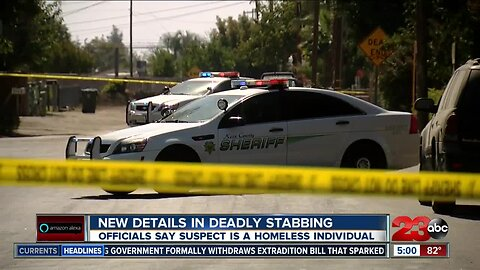 Officials say stabbing suspect was homeless