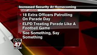 Police ramping up security measures at MSU during homecoming week - Video