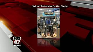 Walmart under fire over back-to-school gun display - Video