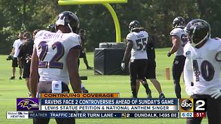 Ravens Face 2 controversies ahead of Sunday's game - Video
