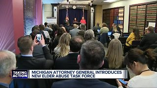 Michigan Attorney General introduces new elder abuse task force