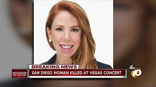 San Diego woman killed at Vegas concert - Video