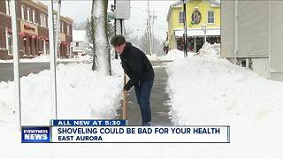 Shoveling snow could cause heart attack - Video