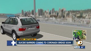 Suicide barriers coming to Coronado Bridge soon