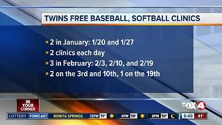 Twins hosting free baseball clinics - Video