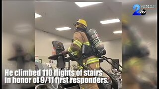 WATCH: Firefighter climbs 110 steps in honor of 9/11 First Responders