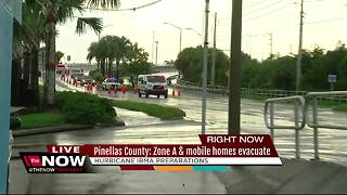 Pinellas County zone A and mobile homes evacuate - Video