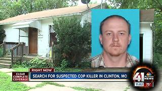Search for suspected cop killer in Clinton, MO - Video
