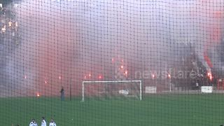 Check out the crazy atmosphere at Greek football TRAINING SESSION - Video