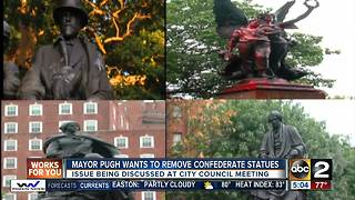 Mayor Pugh plans to remove confederate monuments in Baltimore - Video
