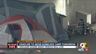 Deadline to move homeless camp Wednesday - Video