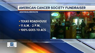 Helping the American Cancer Society with free lunch at Texas Roadhouse